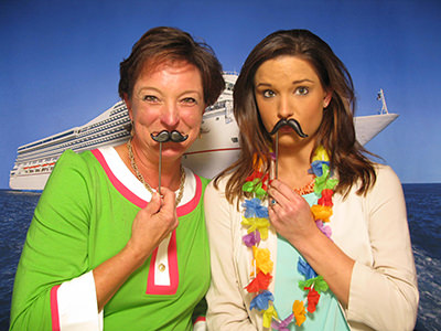 cruise ship themed photo booth