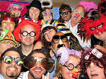 large photo booth group